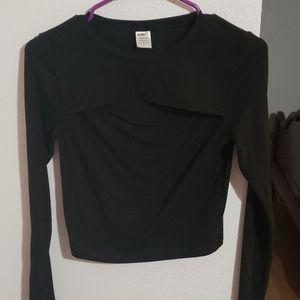 Alphalete Nwot Black Keyhole Long sleeve (M)